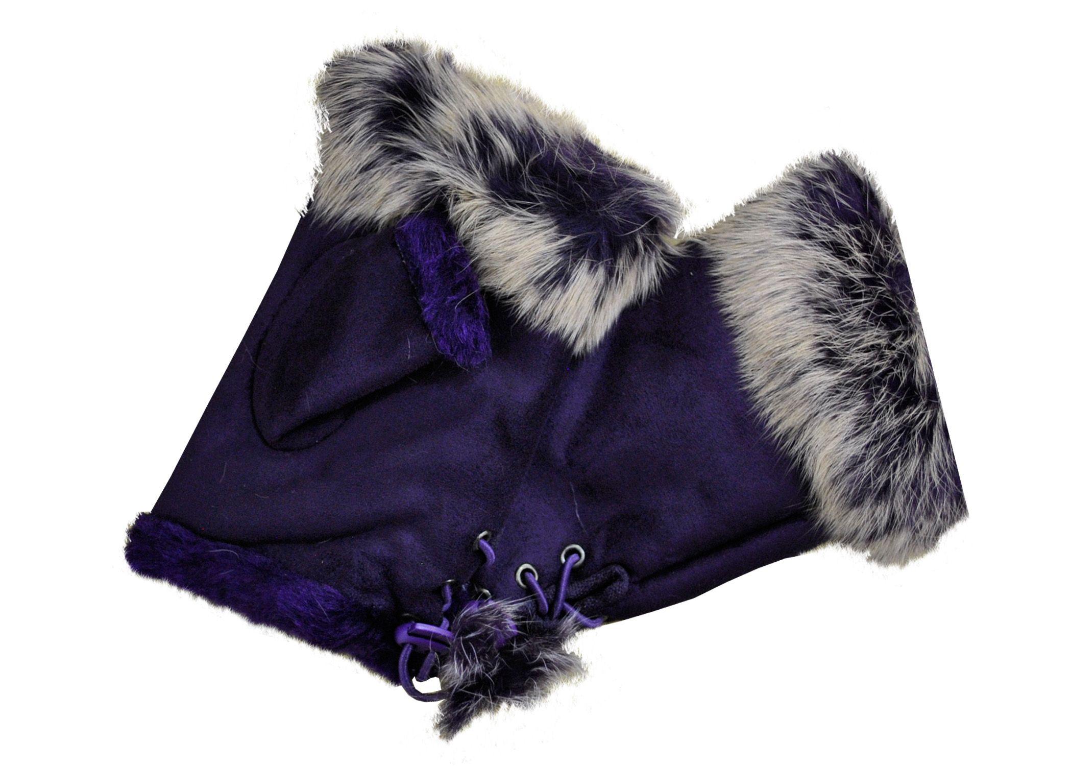 Ladies Fur Fingerless Gloves